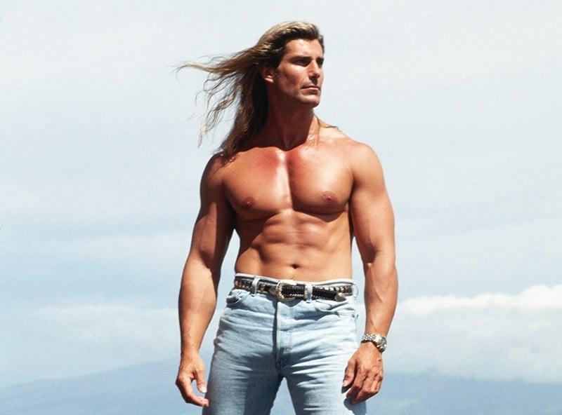 Harlequin Romance History Fabio Standing On Hawaiian Beach Rocks