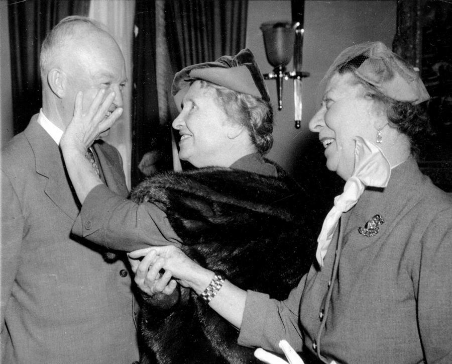 Helen Keller Meets Dwight Eisenhower