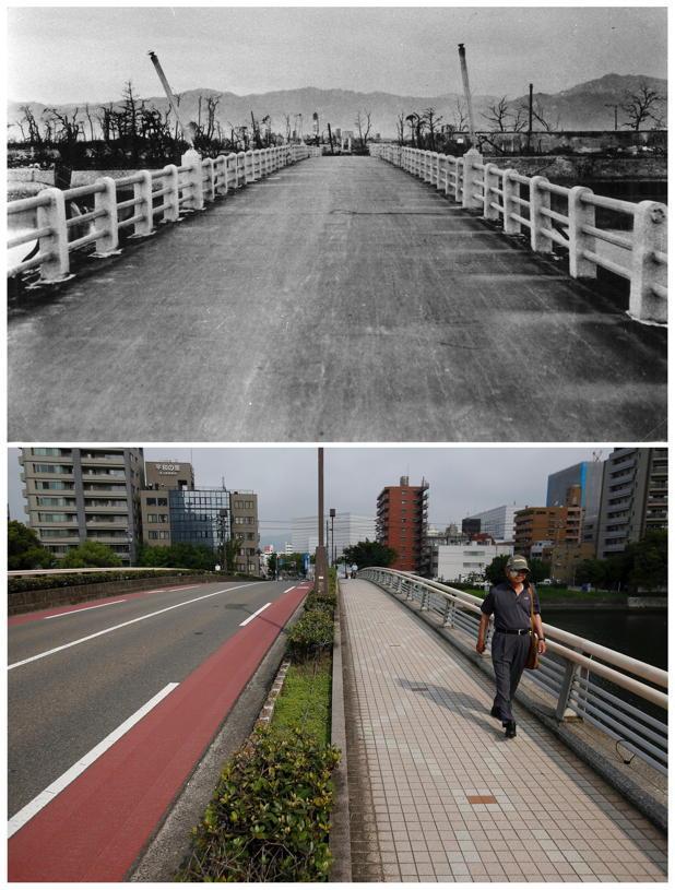 Hiroshima 1945 Vs Today