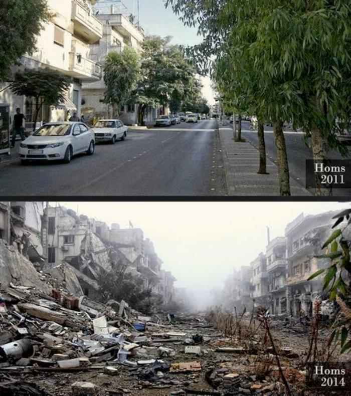 Homs Before And After