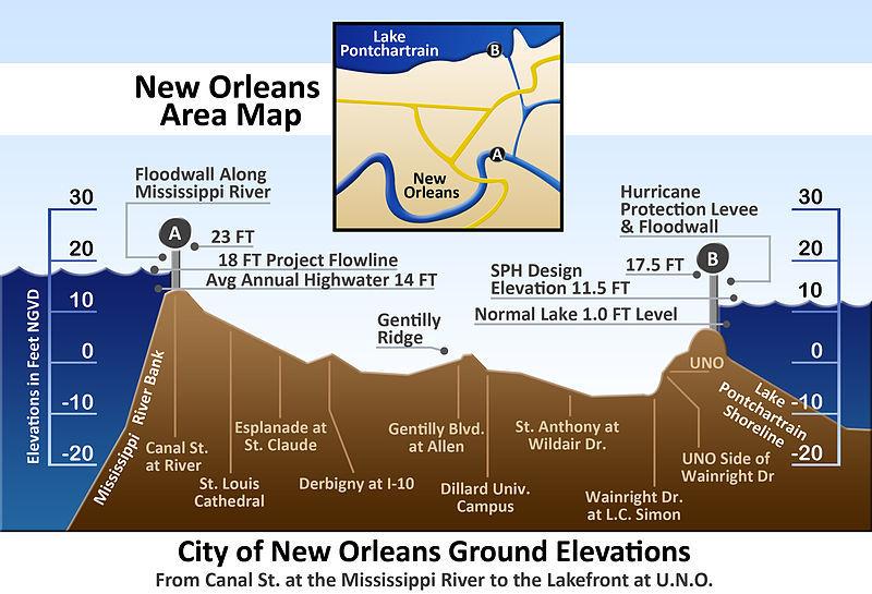 Hurricane Katrina Elevation Map