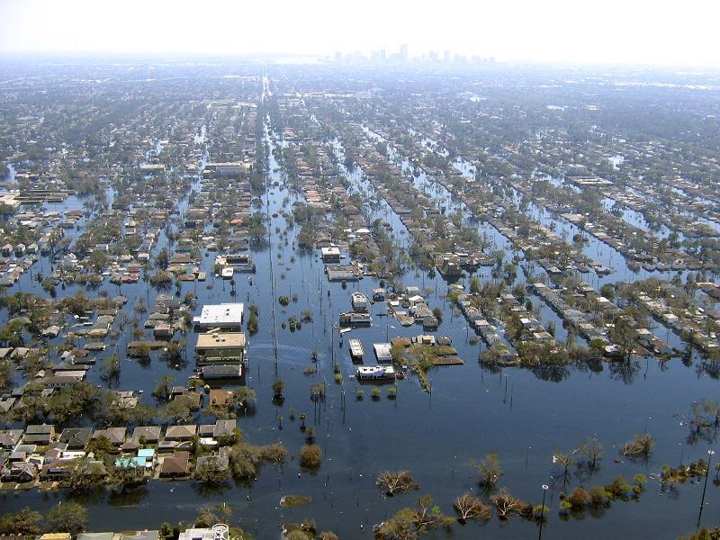 Hurricane Katrina Flooded Overhead