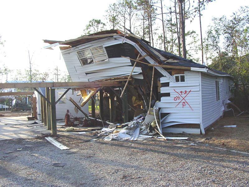 Hurricane Katrina Marked House