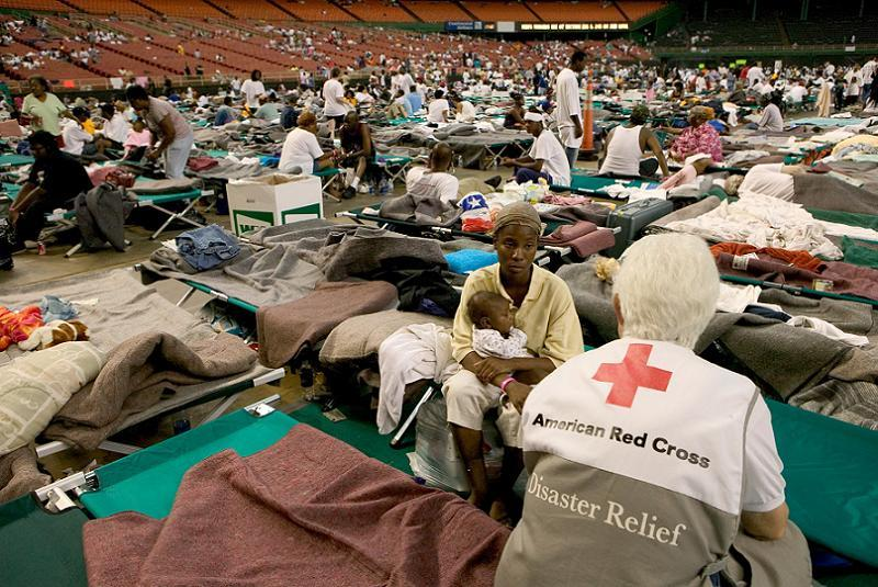 Red Cross Workers After Hurricane Katrina