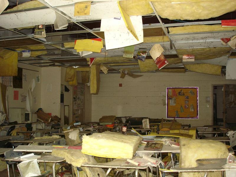 Hurricane Katrina School Damaged