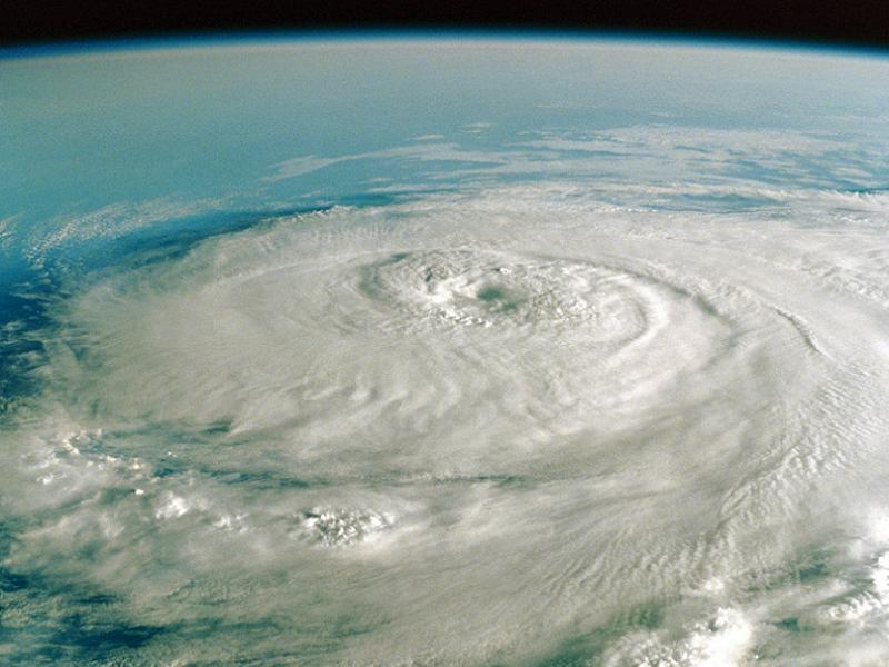 Hurricane Katrina Spiral Cloud