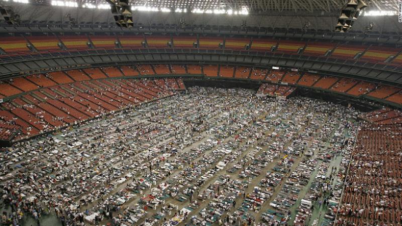 Hurricane Katrina Superdome Refugees