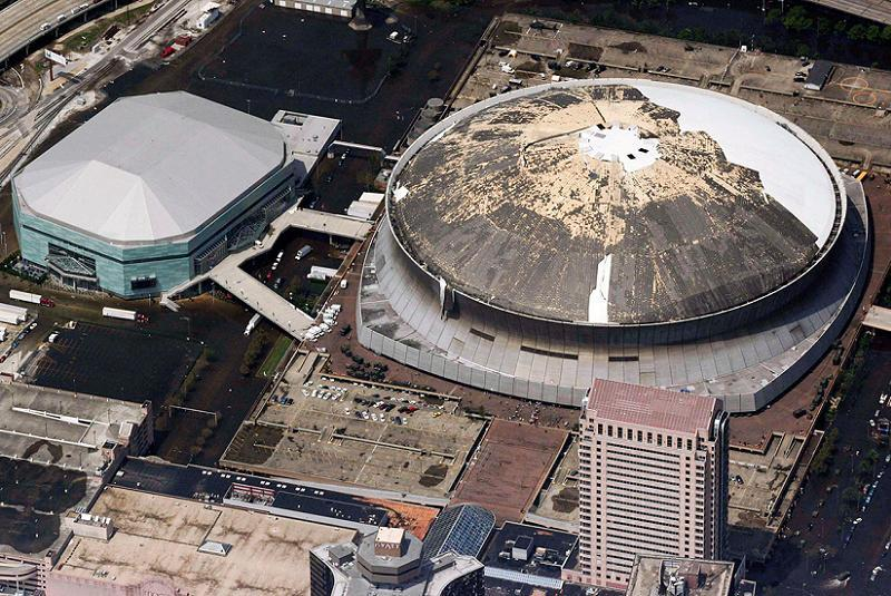 Hurricane Katrina Superdome Roof