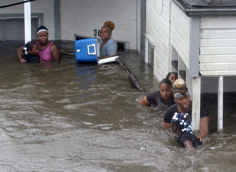 Hurricane Katrina Women Children
