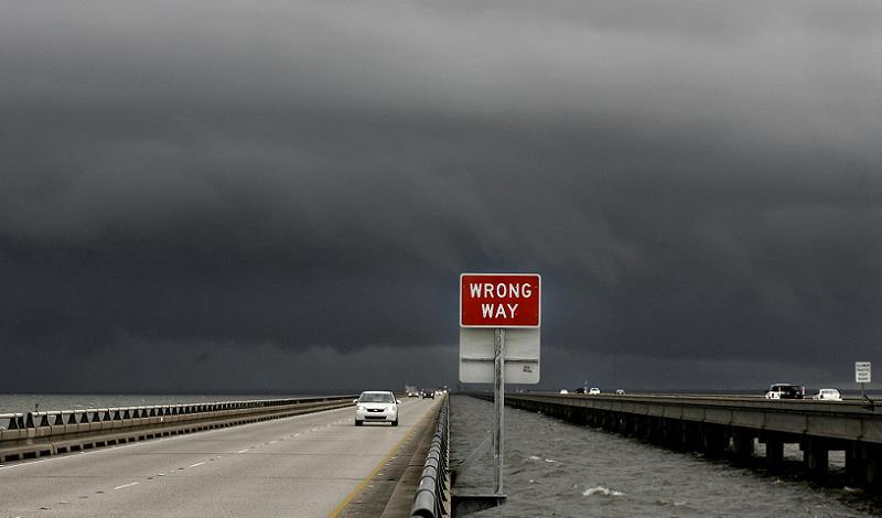 Hurricane Katrina Wrong Way
