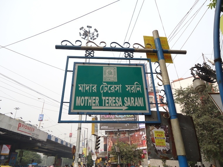 Kolkata Mother Teresa Sign