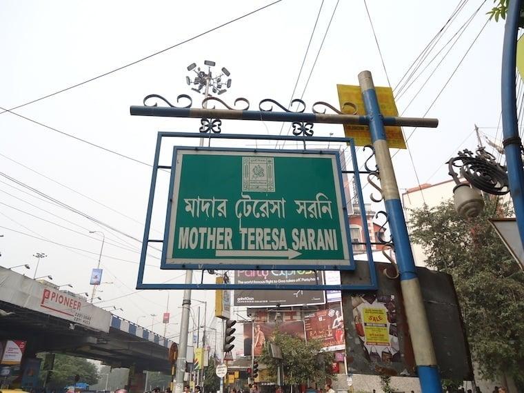 Kolkata Mother Teresa Sign