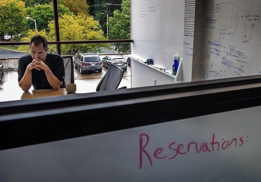Man Desk Window White Boards