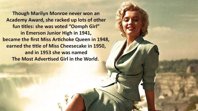 Marilyn Monroe Facts Awards