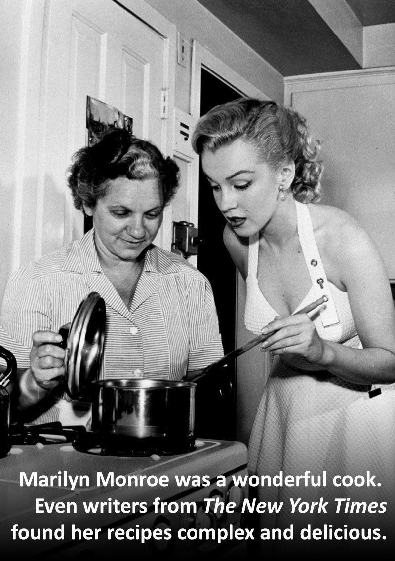 Marilyn Monroe Facts Cooking