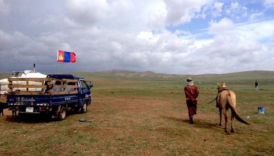 Mongolia Nomads Flag Rider