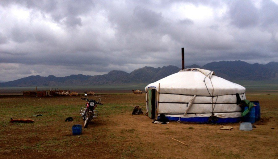 Mongolia Nomads Ger Steppe
