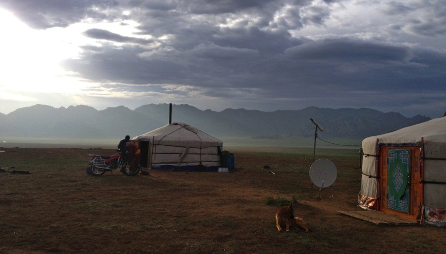 Mongolia Nomads Gers Clouds