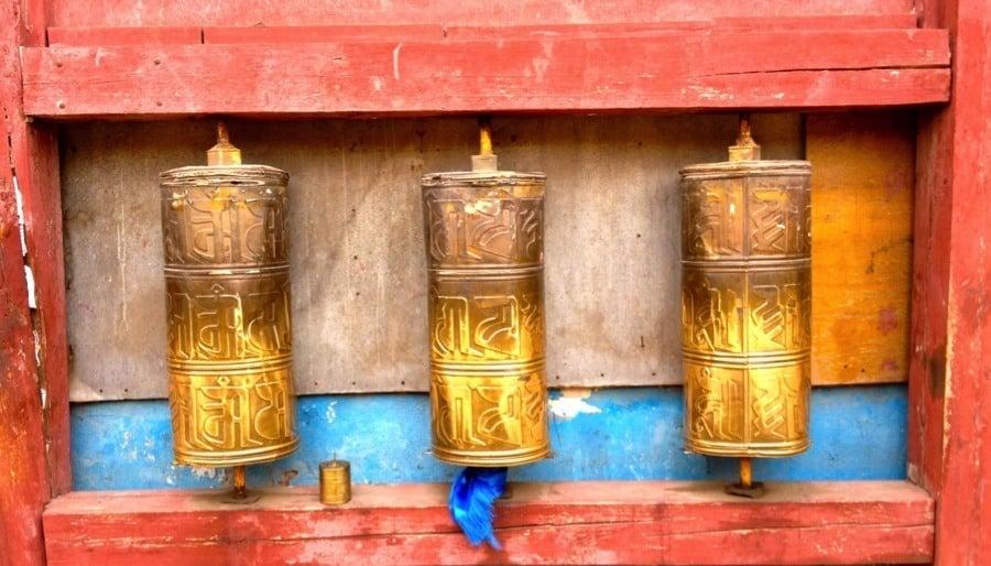 Mongolia Nomads Prayer Wheels