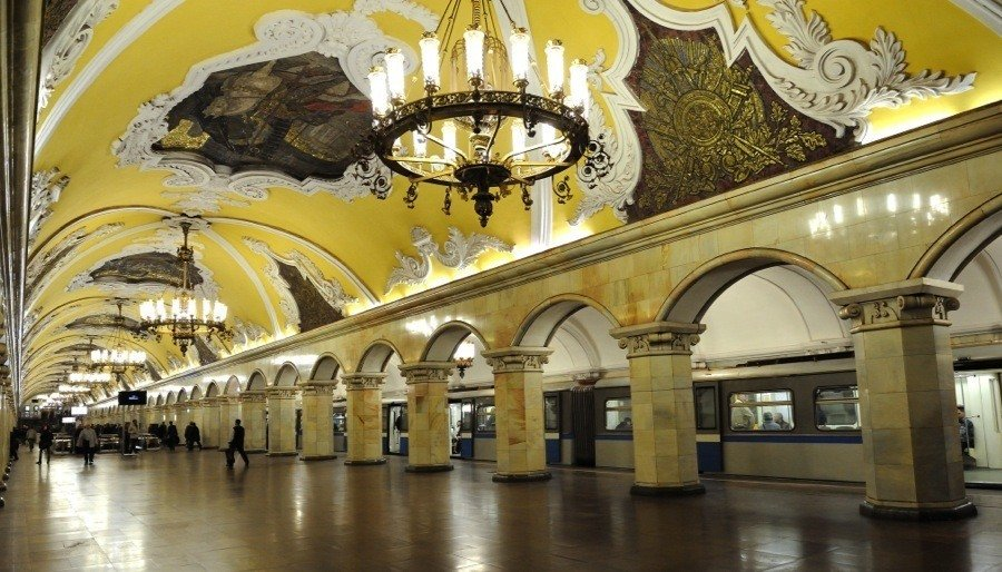 Chandeliers Moscow Metro