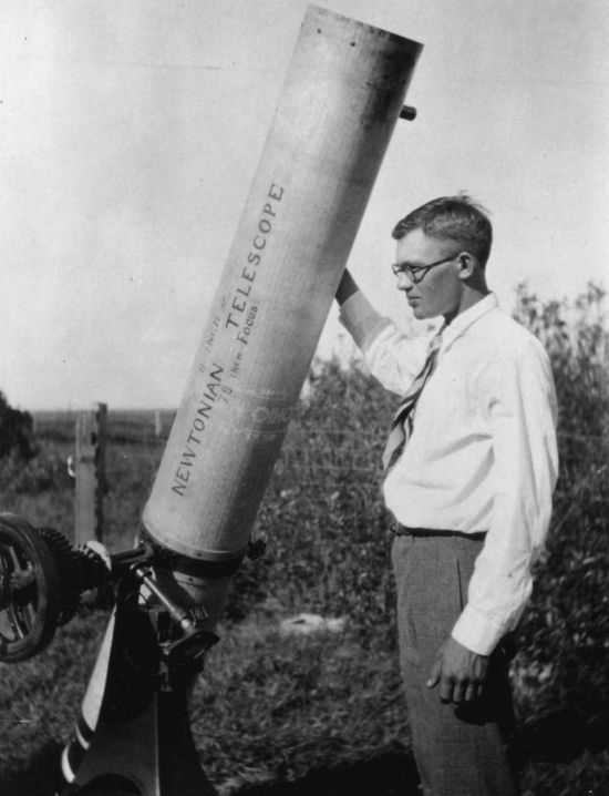 Clyde Tombaugh Early Telescope