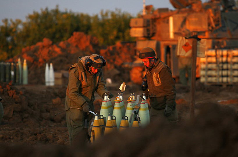 Occupied Palestine Idf Artillery Gaza
