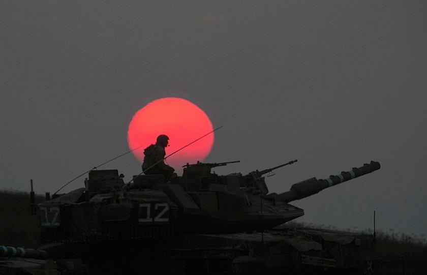 Occupied Palestine Israel Tank