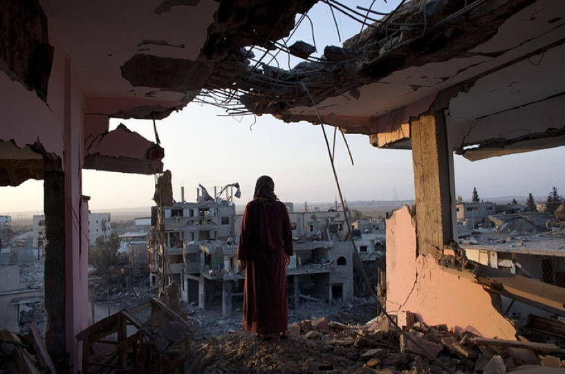 Occupied Palestine Shujayea Wreckage