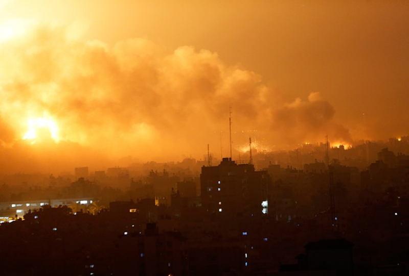 Occupied Palestine Smoke Gaza