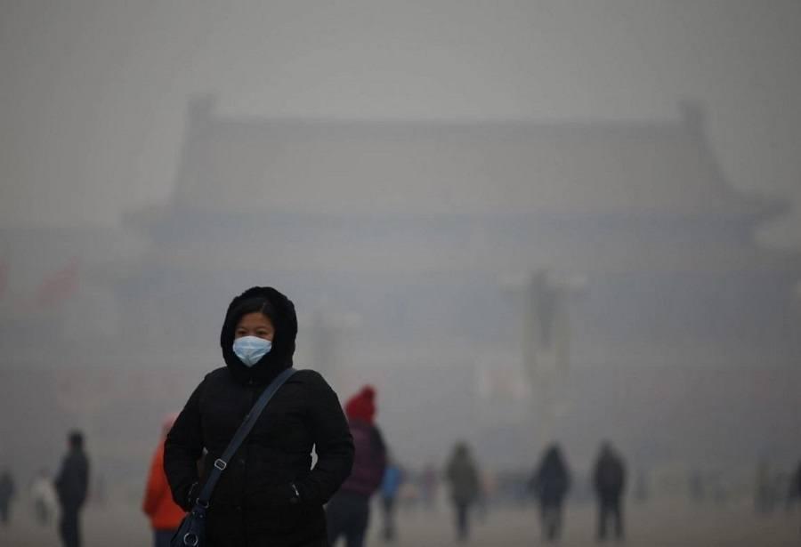 Pollution China Woman Mask