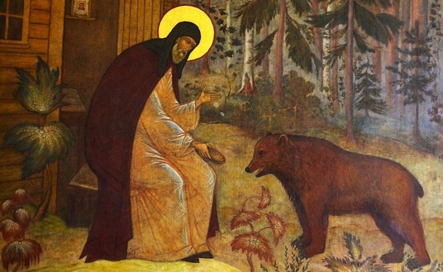 Saint Sergius With Bear