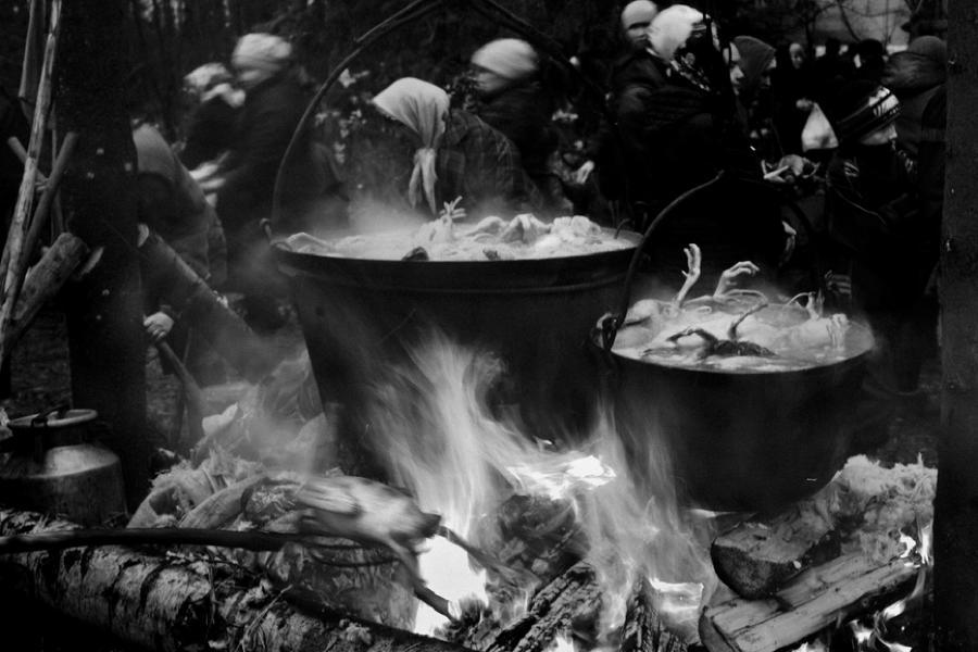 Russian Pagans Boiling Geese