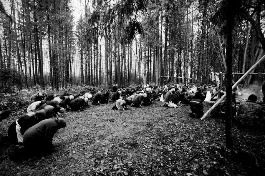Russian Pagans Praying Woods