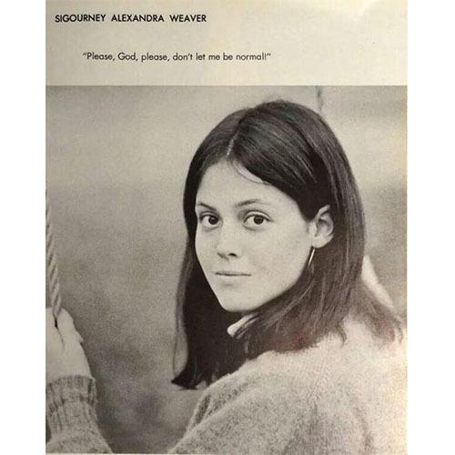 Celebrity Yearbook Photos Sigourney Weaver