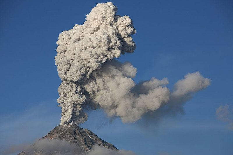 Summer Weather 2015 Mexico Colima Volcano