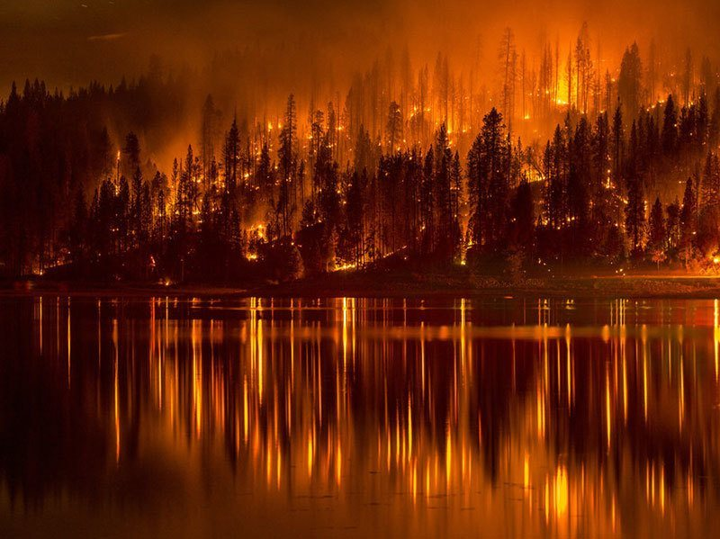 Summer Weather 2015 Northern California Wildfire Bass Lake