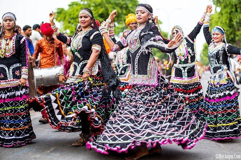 Teej Procession Kaalbeliya Dancers