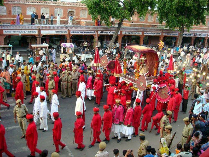 Teej Festival Procession Jaipur