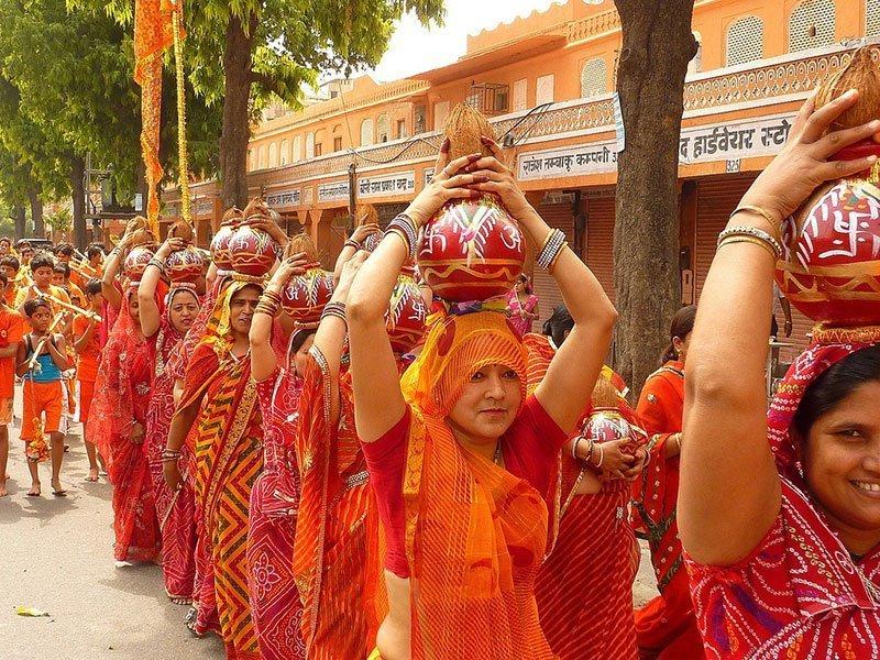 Teej Procession Procession