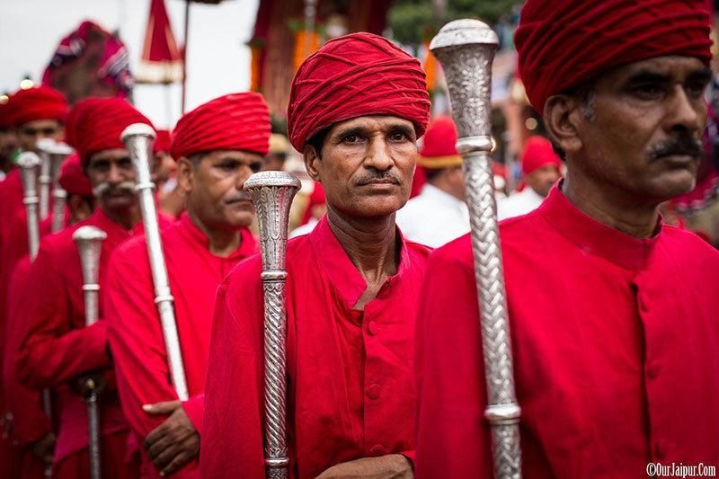 Teej Festival Royal Guards