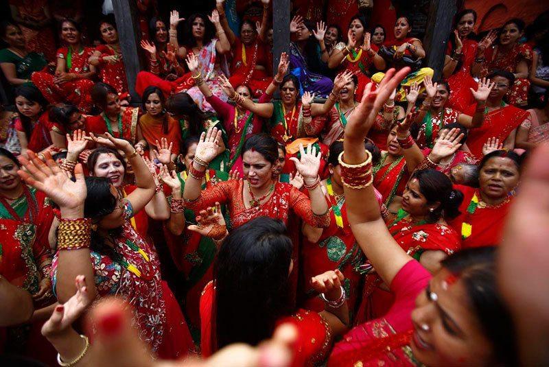 Women Celebrate Teej
