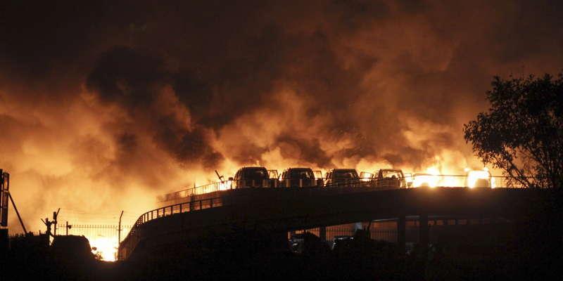 Tianjin Explosion Fire