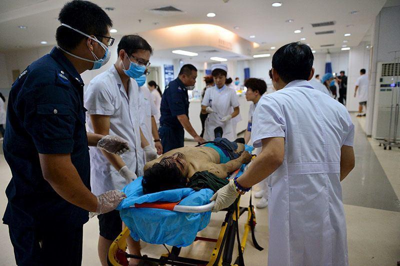 Tianjin Explosion Injured Man