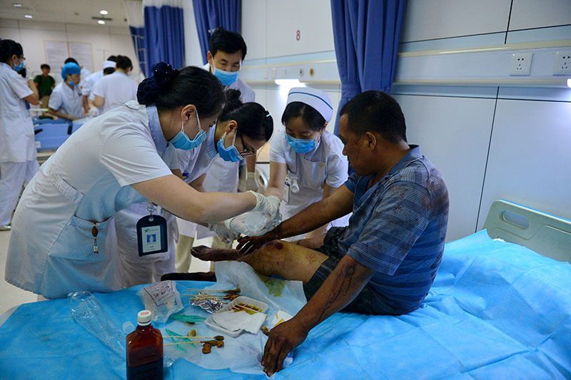 Tianjin Explosion Medical Aid