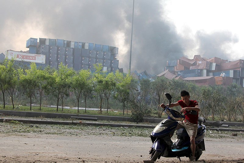 Tianjin Explosion Motorcycle