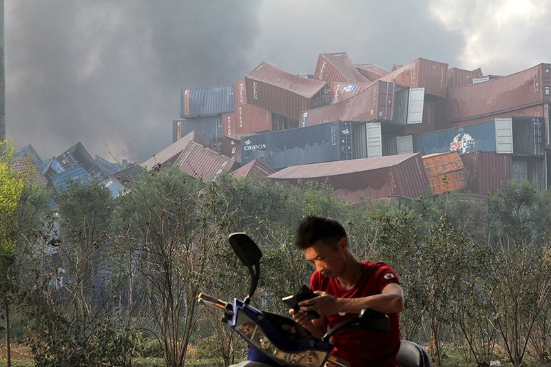 Tianjin Explosion Shipping Containers