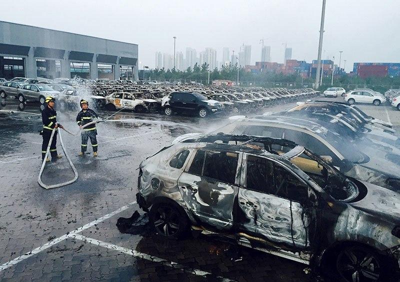 Tianjin Explosion Spraying Hose