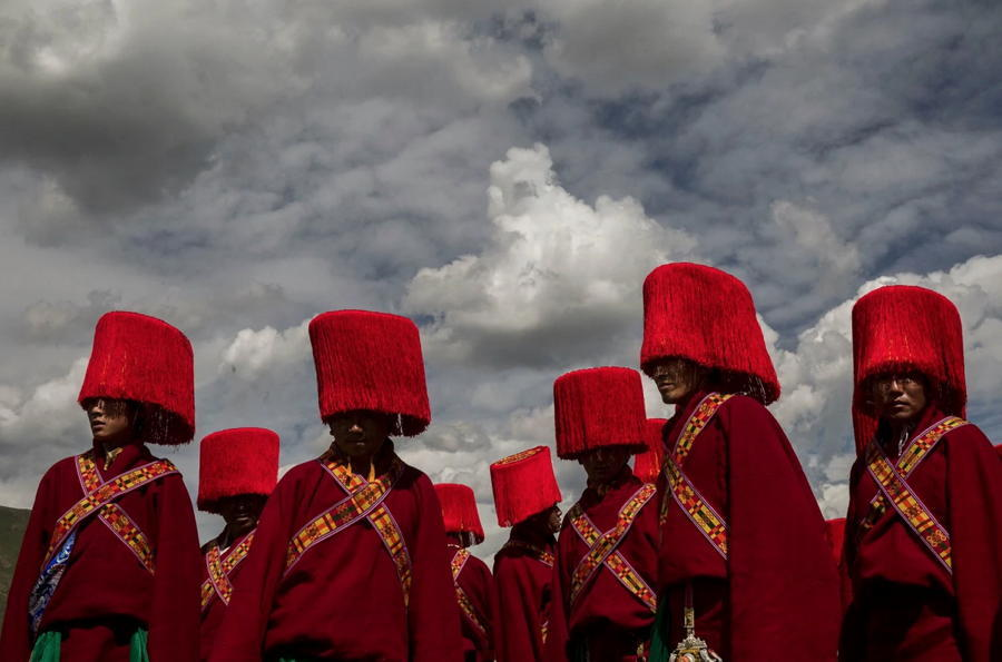 Tibetan Nomads Red Hats