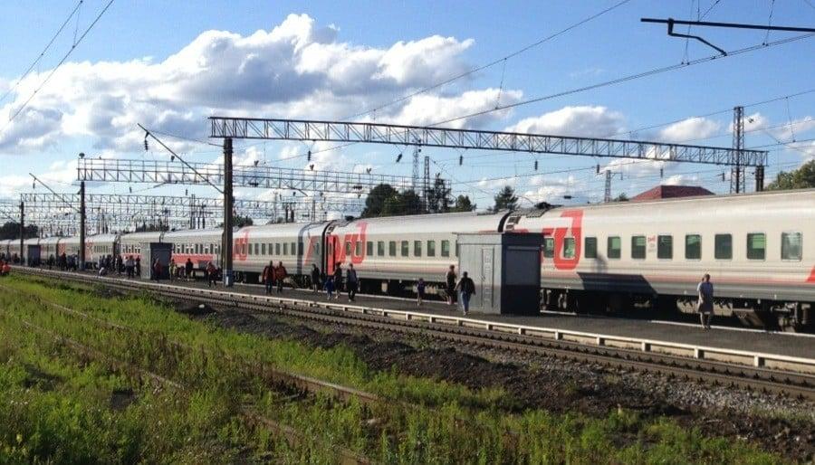 Transsiberian Railway Rural Stop