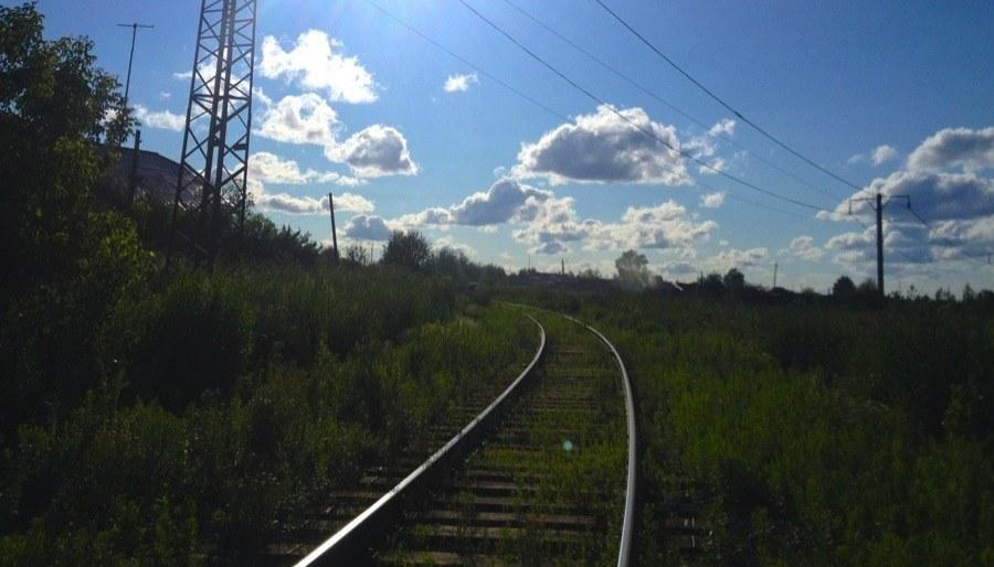 Trans-Siberian Railway Tracks Clouds